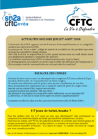 2018-07 et 08 Newsletter CFTC Juillet aout 2018