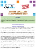 Breaking News CSSCTE Levallois SEPTEMBRE 2020