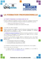 COMPTE PERSONNEL DE FORMATION 2021